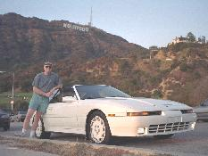 Click to see Me (with Keith's Car) in front of the famous Hollywood Sign - Large