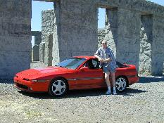 Click to see Me and My Baby in front of the Columbia River Gorge Stonehenge - Large