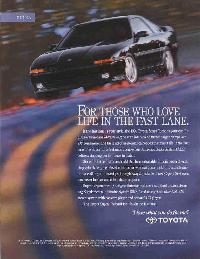 Click to see 91 'For Those Who Love Life in the Fast Lane' Ad - Large