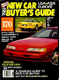 Click to see the Motor Trend 1989 New Car Buyers Guide Cover - Large