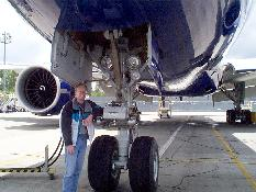 Click to see Me next to 777 Nose Landing Gear at Boeing - Large
