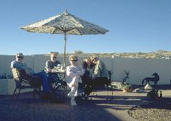 Click to see the family sippin' margaritas on the patio during Xmas in Tucson - Large