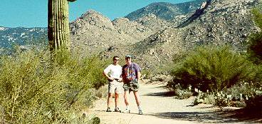 Click to see Tim and I hiking in Catalina State Park during Xmas in Tucson - Large