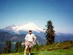 Click to see Me hiking in Mt. Baker Nat'l Forest (Mt. Baker in Background) - Large