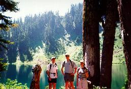 Click to see Kevin, Me and Lorrie at an Alpine Lake in Mt. Baker Nat'l Forest - Large