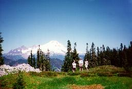 Click to see Kevin, Me and Lorrie in an Alpine Meadow in Mt. Baker Nat'l Forest - Large