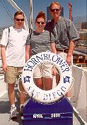 Click to see Dane, De and Me boarding the San Diego Bay HornBlower Cruise - Large