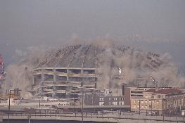 Click to see my shot of the Kingdome Implosion after staying up all night for killer seats :-) - Large