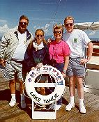 Click to see Dad, Sis, Mom and Me on the loading pier for the M.S. Dixie II - Large