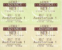 Click to see my tickets to the 'first' official showing (12:01am) of Phantom Menace - Large