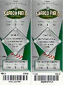 Click to see my tickets to the 2nd ever Mariners game at the brand new Safeco field - Large