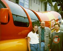 Click to see Deanna, Me and Dane in front of the World Famous Wienermobile - Large